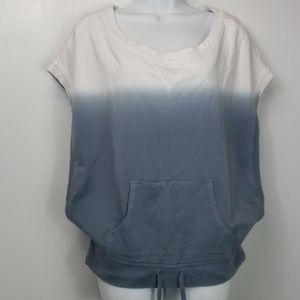Calvin Klein sleeveless sweatshirt ombre sz L